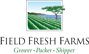 Green and white logo for Field Fresh Farms.