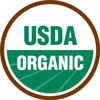 Green and brown logo for USDA Organic certification